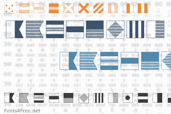 Maritime Flags Font