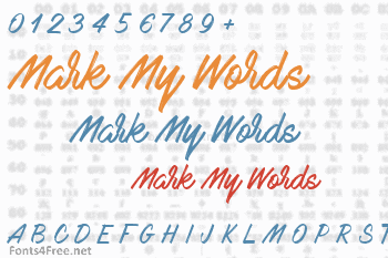 Mark My Words Font