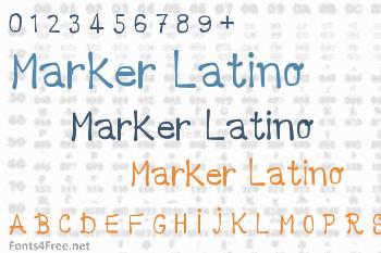 Marker Latino Font