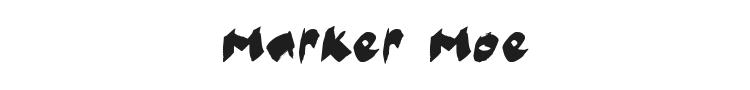 Marker Moe Font