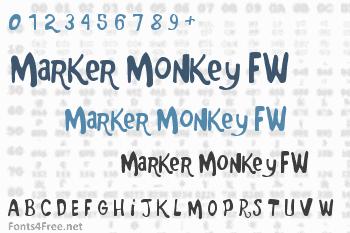 Marker Monkey FW Font