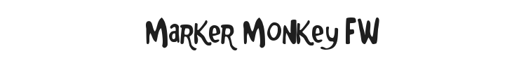 Marker Monkey FW Font Preview