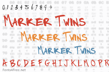 Marker Twins Font