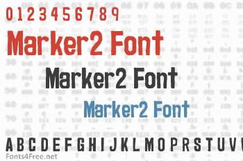 Marker2 Font