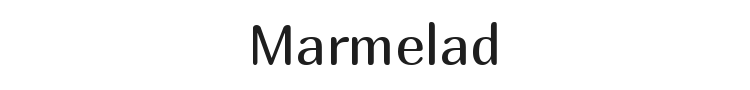 Marmelad Font Preview