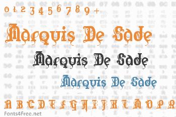Marquis De Sade Font