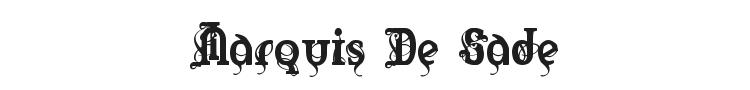 Marquis De Sade Font Preview
