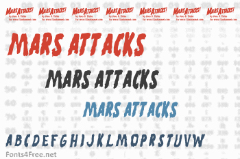 Mars Attacks Font