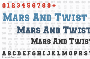 Mars & Twist Font