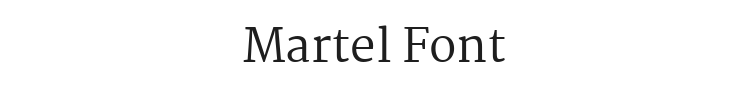 Martel Font Preview