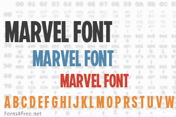 Marvel Display Font