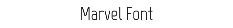 Marvel Font Preview