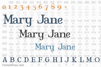 Mary Jane Font