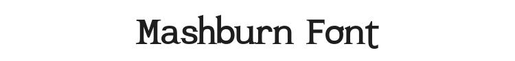Mashburn Font Preview