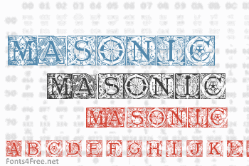 Masonic Tattegrain Font