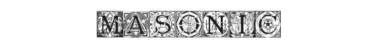 Masonic Tattegrain Font Preview