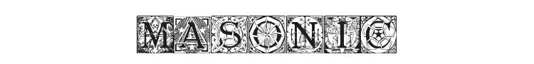 Masonic Tattegrain Font Preview