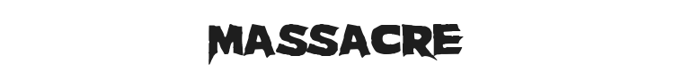 Massacre Font Preview
