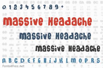 Massive Headache Font