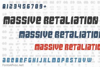 Massive Retaliation Font