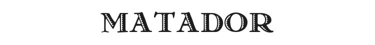 Matador Font Preview