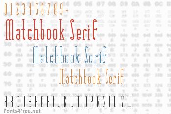 Matchbook Serif Font