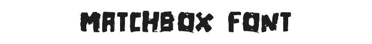 Matchbox Font Preview