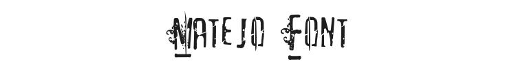 Matejo Font Preview