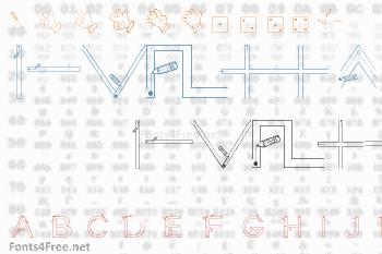 Maternellecolor Graphisme Font