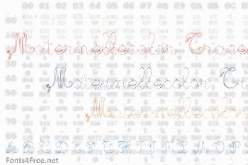 Maternellecolor Trace Font