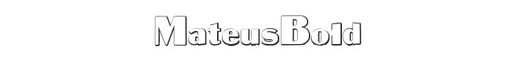 MateusBold Font Preview