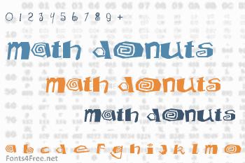 Math Donuts Font
