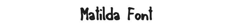 Matilda Font Preview