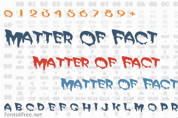 Matter Of Fact Font