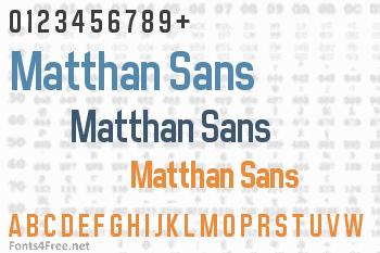 Matthan Sans Font