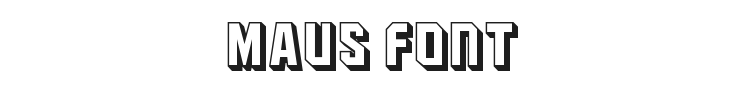 Maus Font Preview
