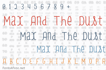 Max And The Dust Font