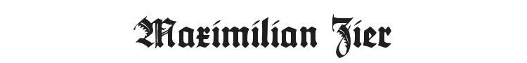 Maximilian Zier Font Preview