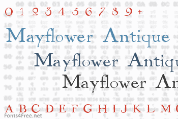 Mayflower Antique Font