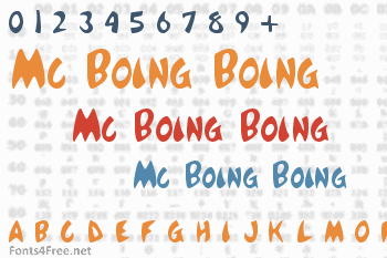 Mc Boing Boing Font