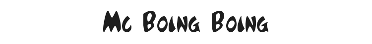 Mc Boing Boing Font Preview