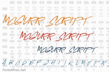 McGurr Script Font