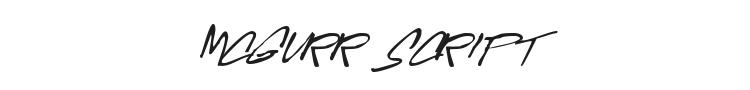 McGurr Script Font Preview