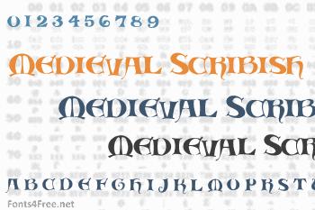 Medieval Scribish Font