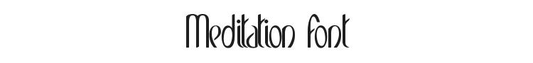 Meditation Font Preview