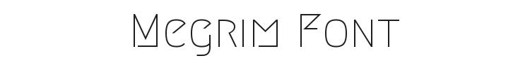 Megrim Font Preview