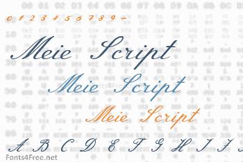 Meie Script Font