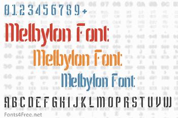 Melbylon Font