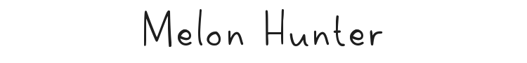 Melon Hunter Font Preview