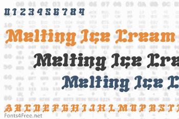 Melting Ice Cream Font